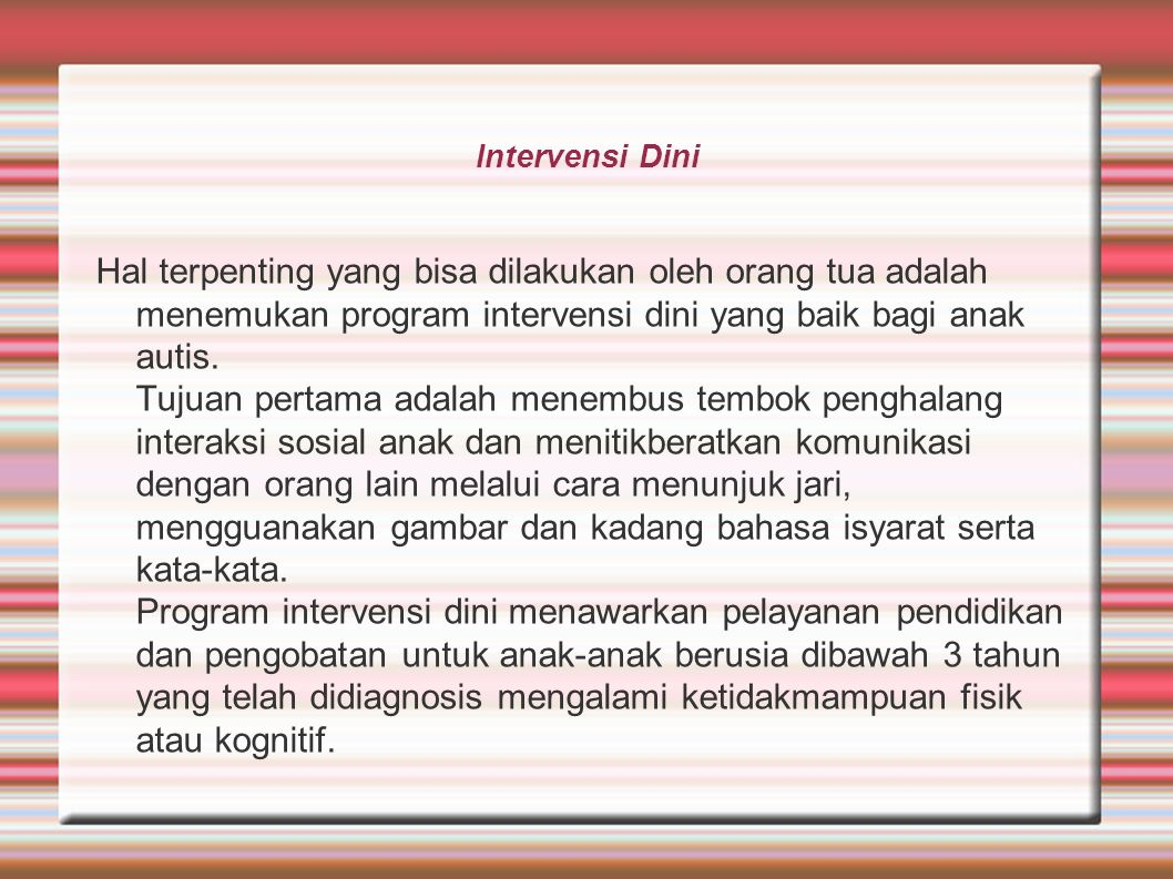 Intervensi Dini