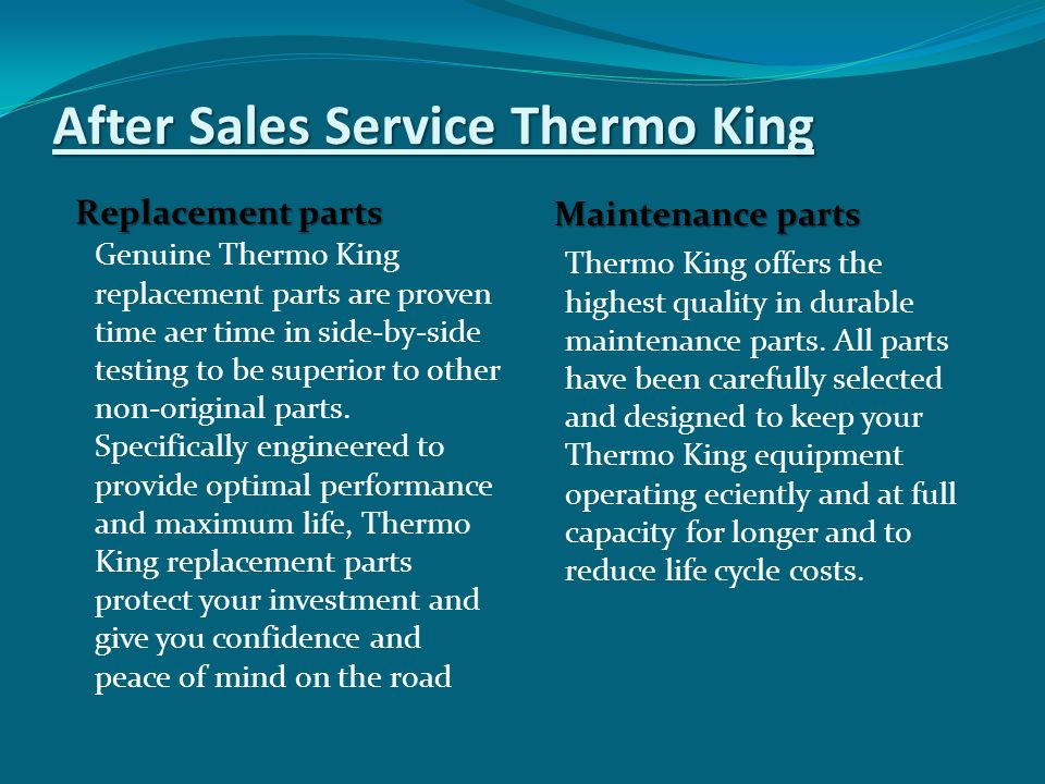 After Sales Service Thermo King
