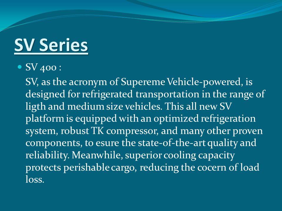 SV Series SV 400 :