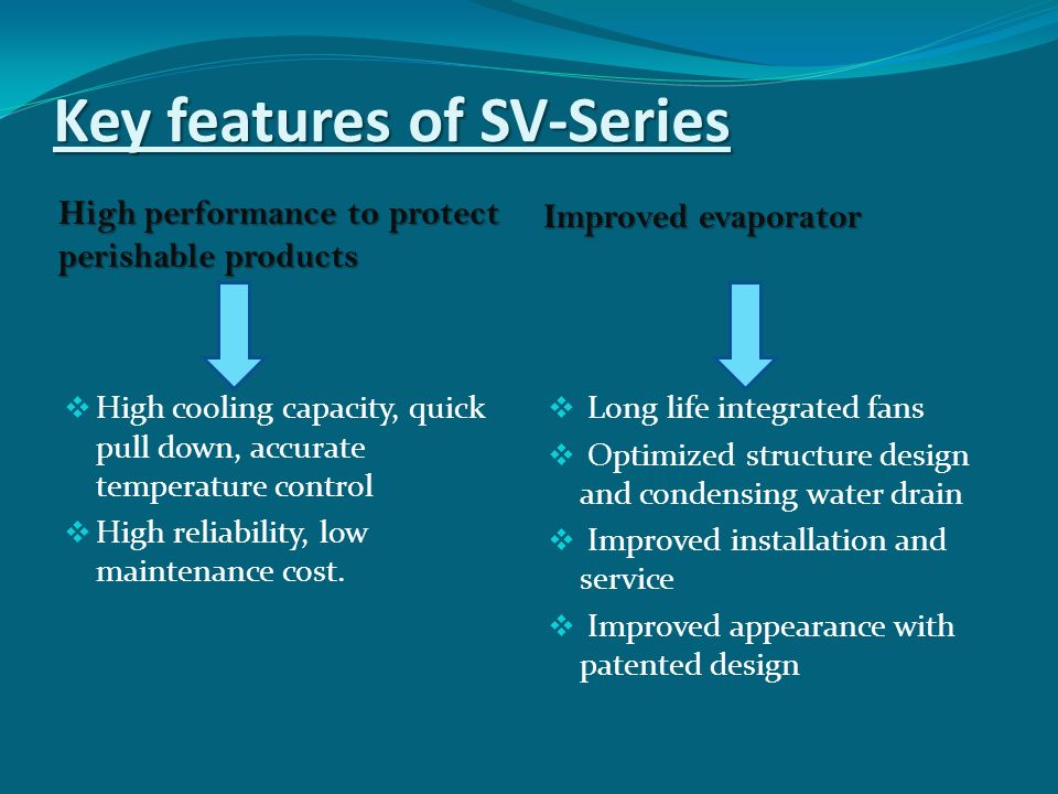 Key features of SV-Series