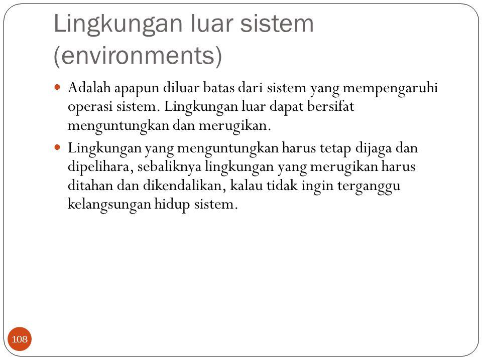 Lingkungan luar sistem (environments)
