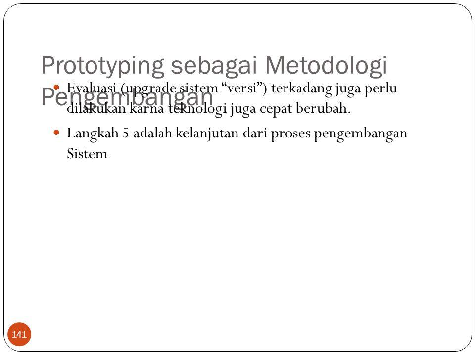 Prototyping sebagai Metodologi Pengembangan