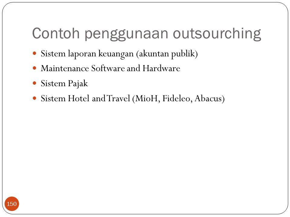 Contoh penggunaan outsourching