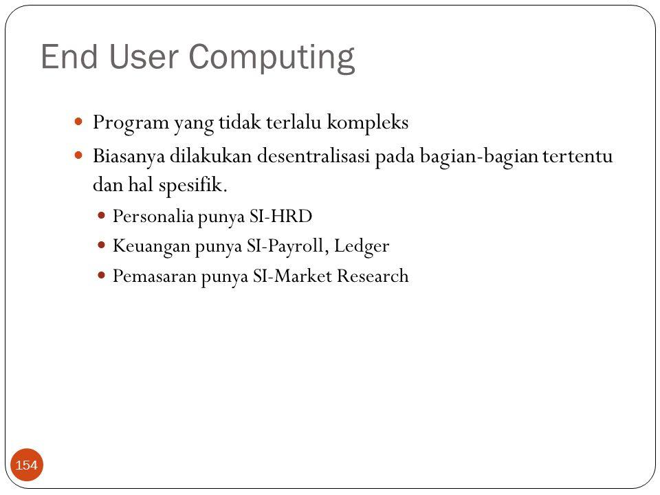 End User Computing Program yang tidak terlalu kompleks