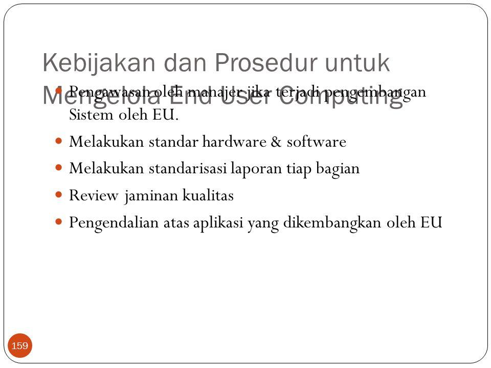 Kebijakan dan Prosedur untuk Mengelola End User Computing