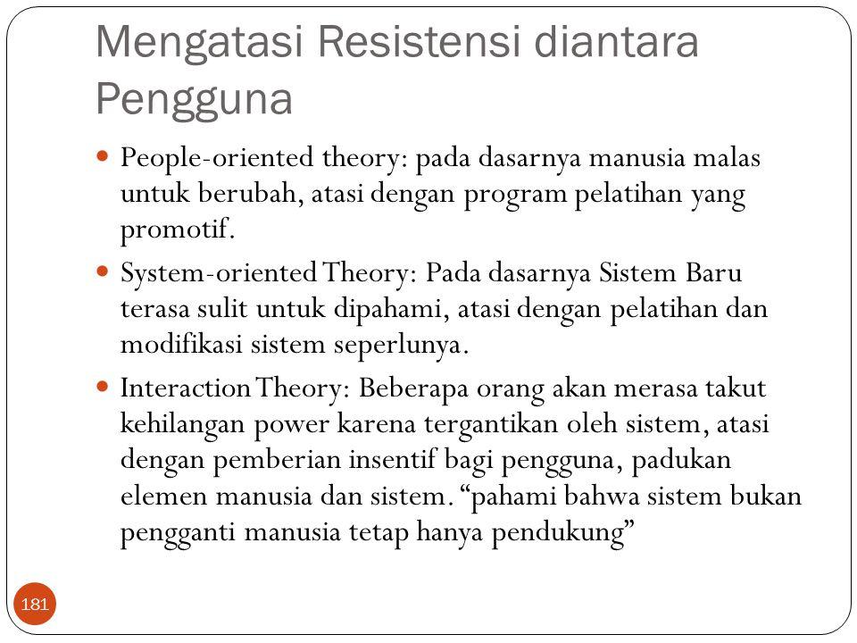 Mengatasi Resistensi diantara Pengguna