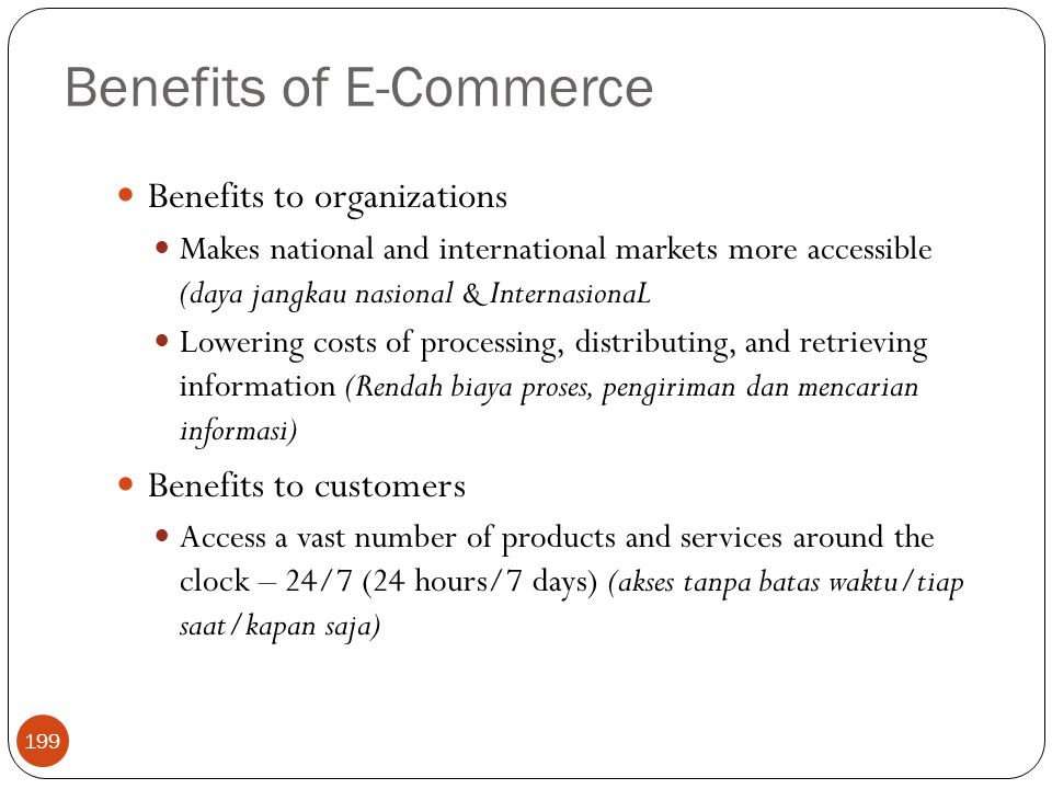 Benefits of E-Commerce
