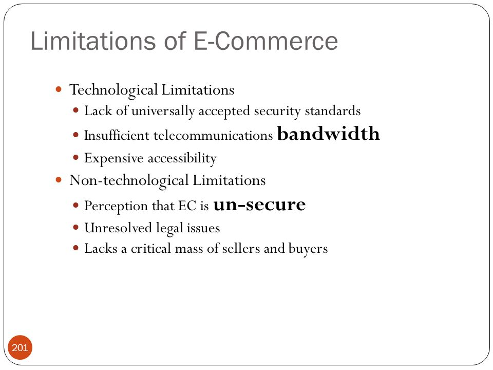 Limitations of E-Commerce