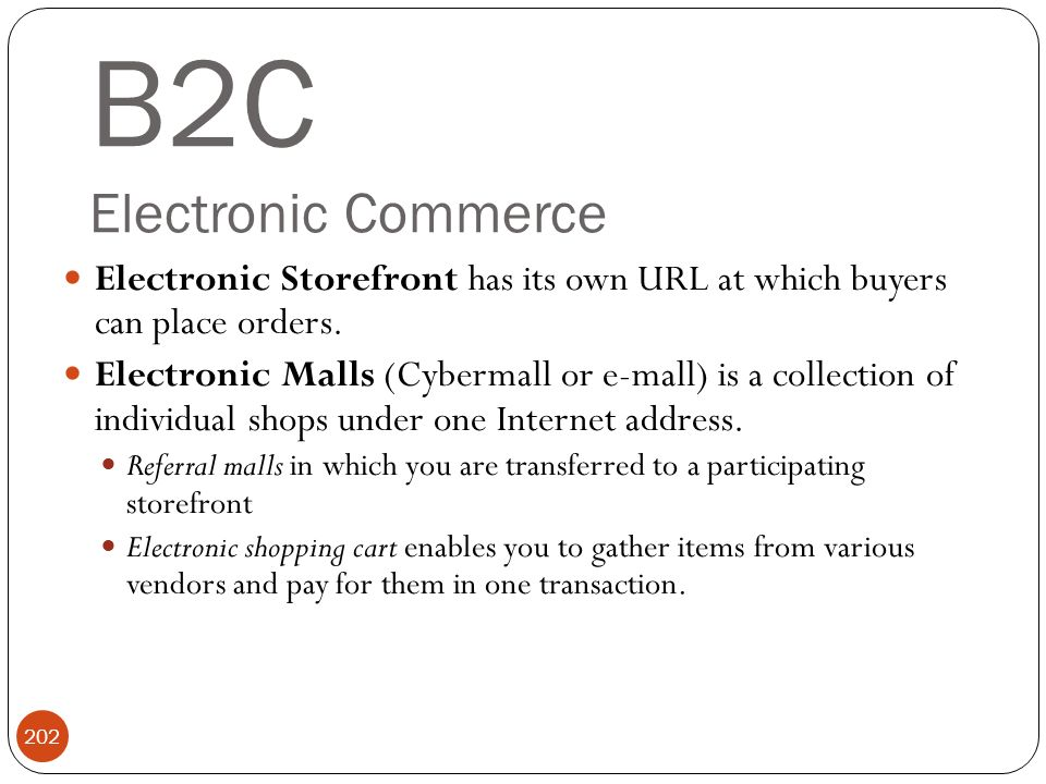 B2C Electronic Commerce
