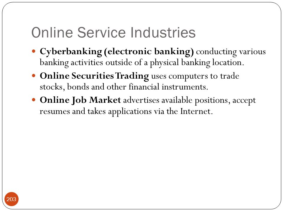 Online Service Industries