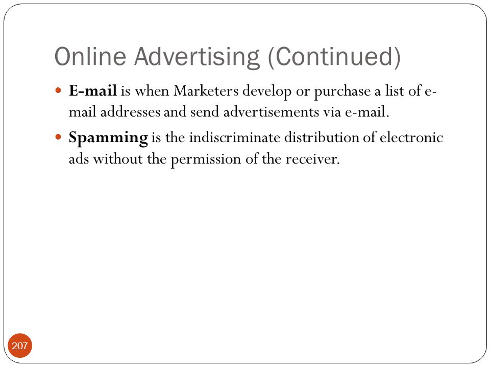 Online Advertising (Continued)