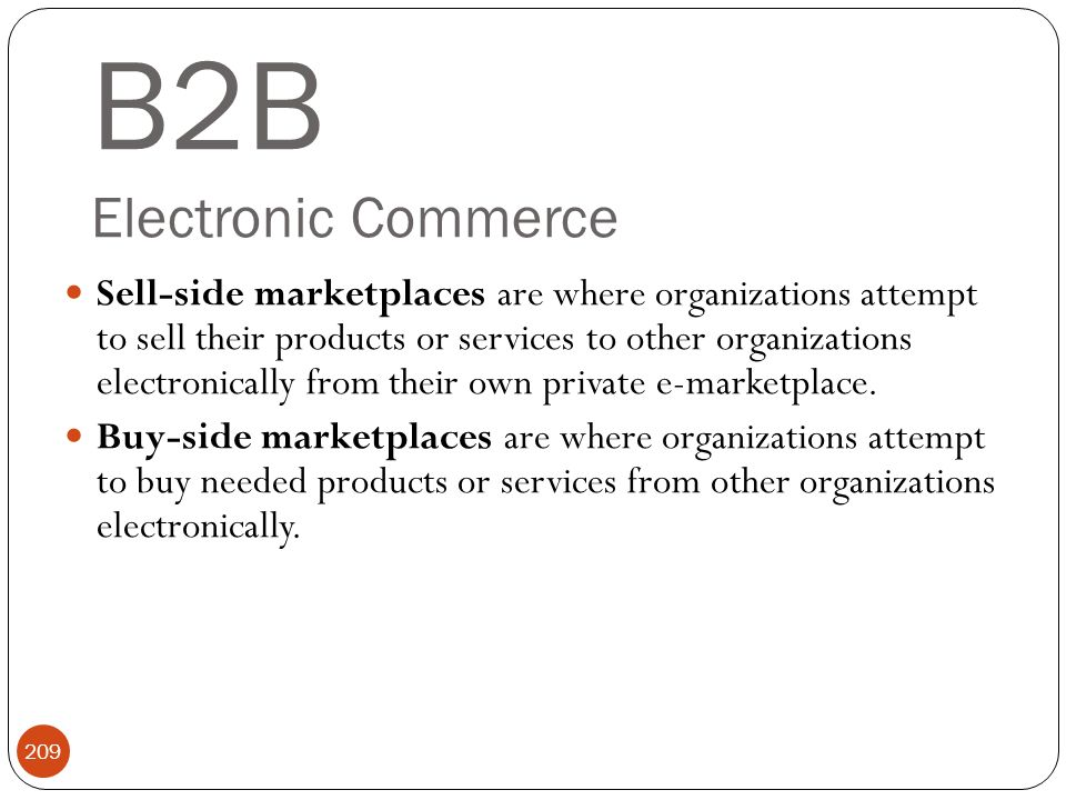 B2B Electronic Commerce