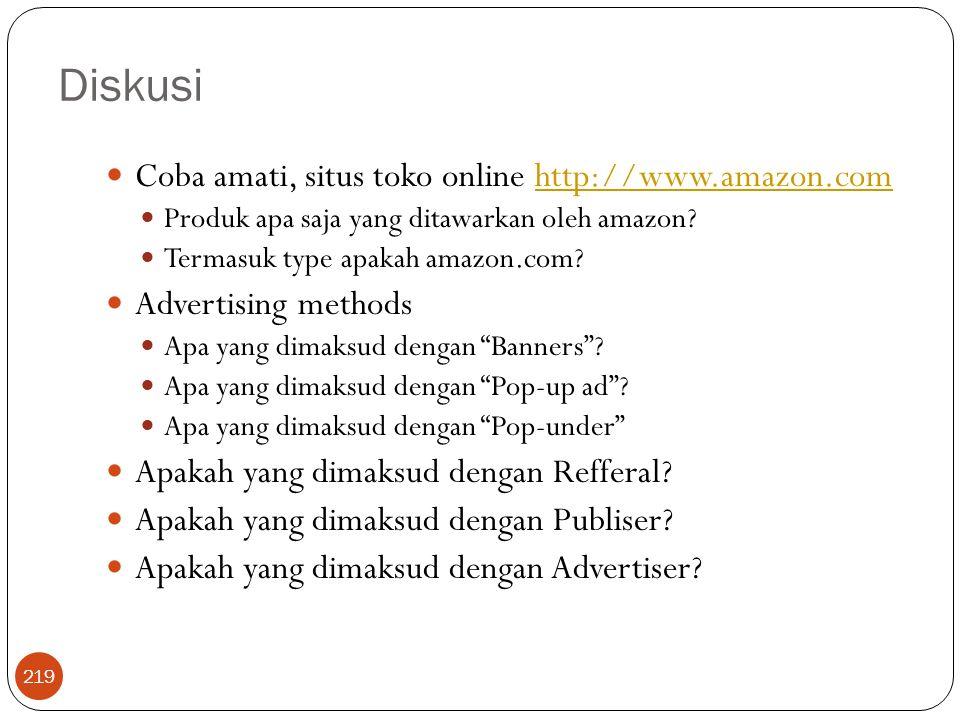 Diskusi Coba amati, situs toko online http://www.amazon.com