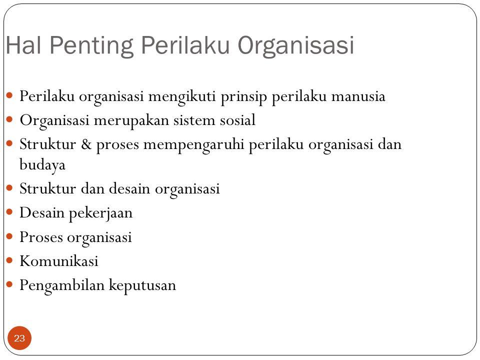 Hal Penting Perilaku Organisasi