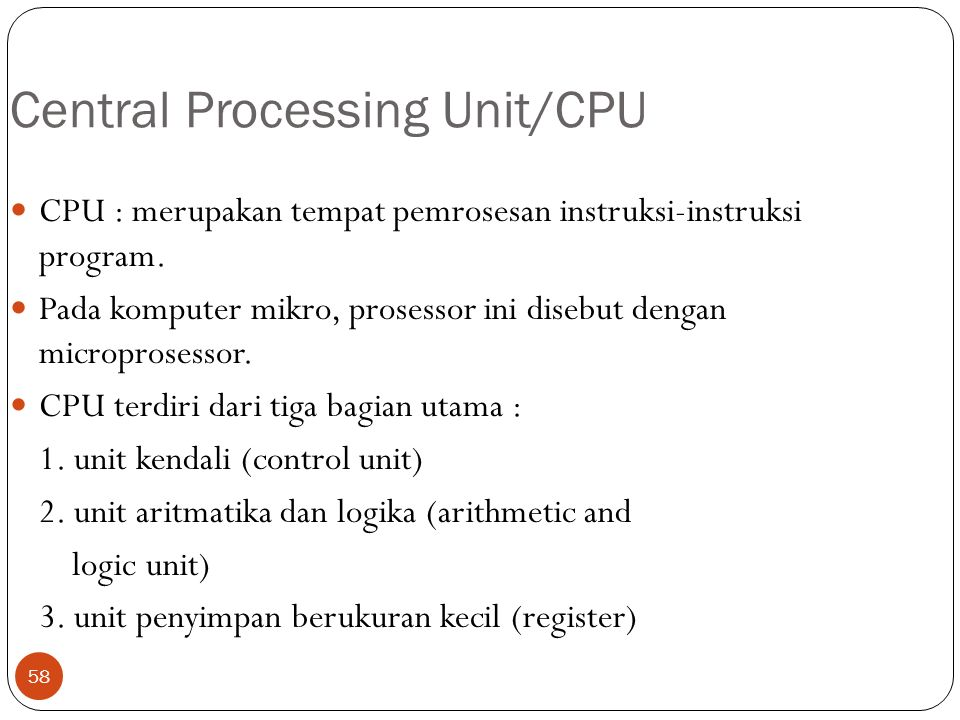Central Processing Unit/CPU