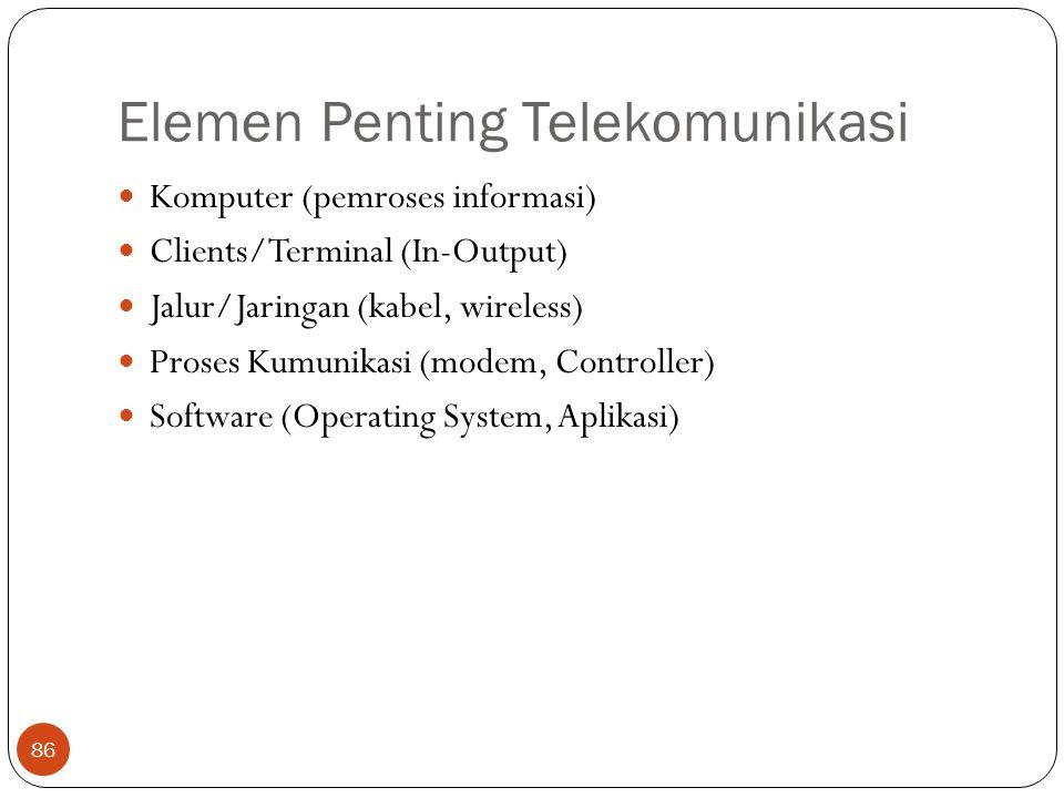 Elemen Penting Telekomunikasi