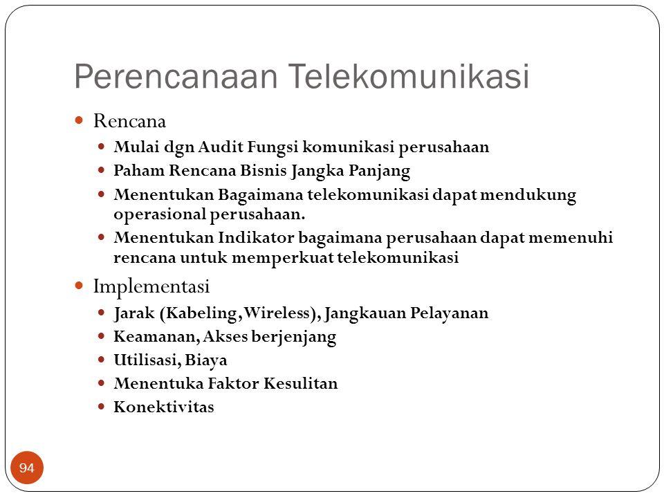 Perencanaan Telekomunikasi