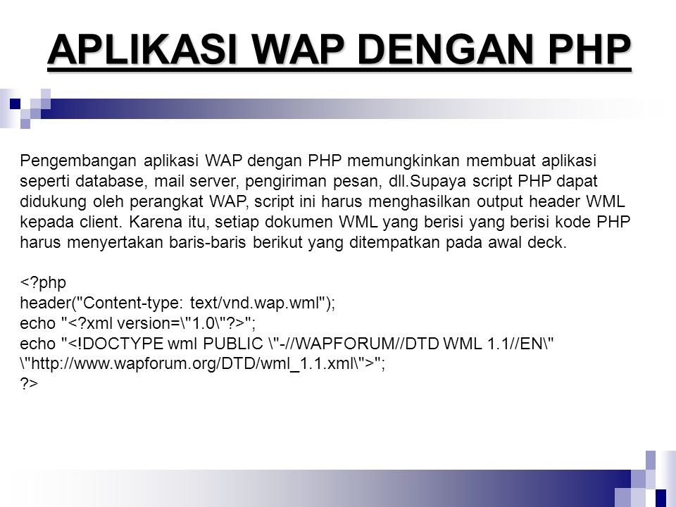 APLIKASI WAP DENGAN PHP