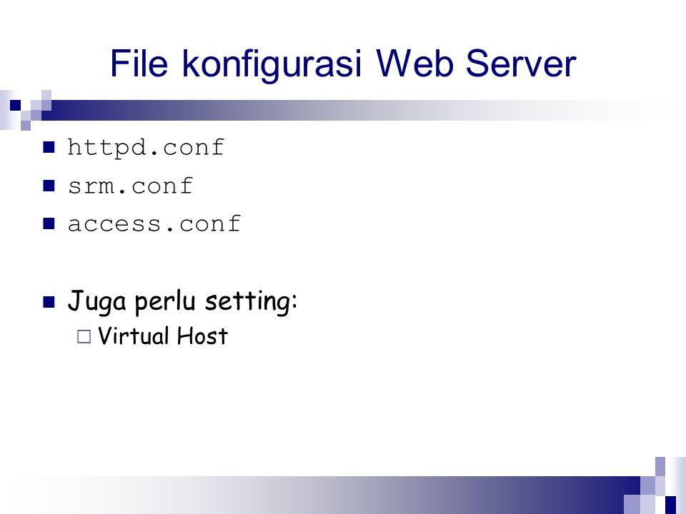 File konfigurasi Web Server