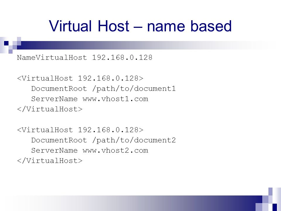 Virtual Host – name based