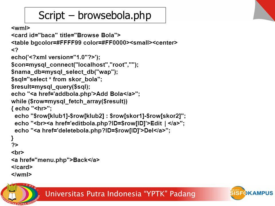 Script – browsebola.php