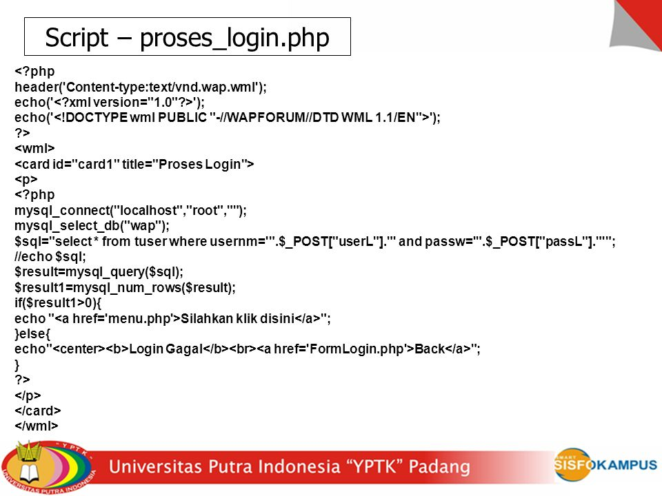 Script – proses_login.php