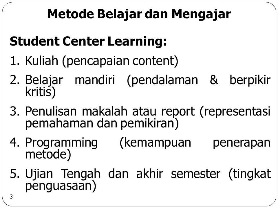 Metode Belajar dan Mengajar
