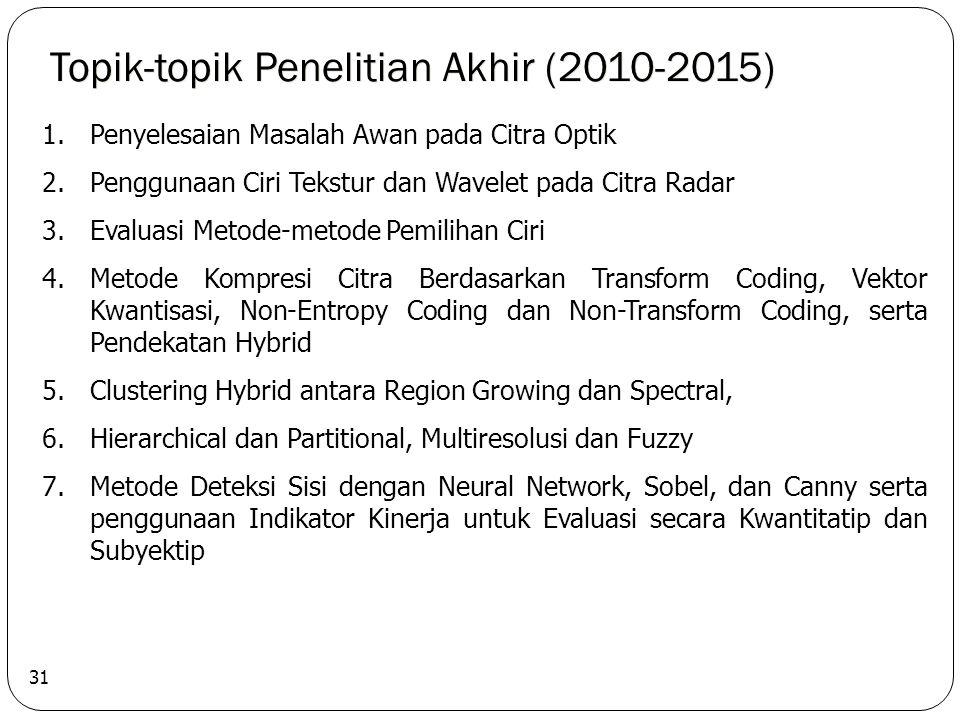 Topik-topik Penelitian Akhir (2010-2015)