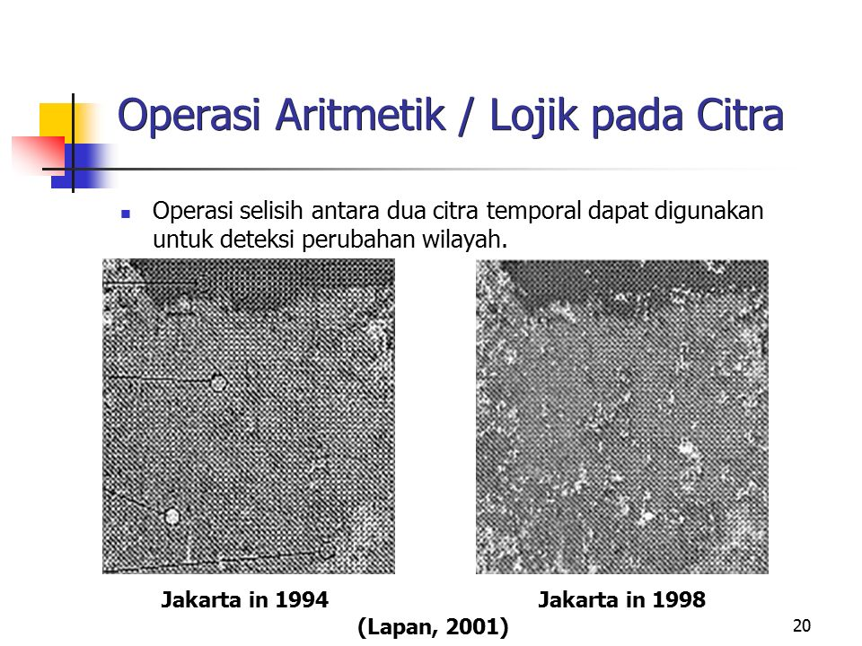 Operasi Aritmetik / Lojik pada Citra