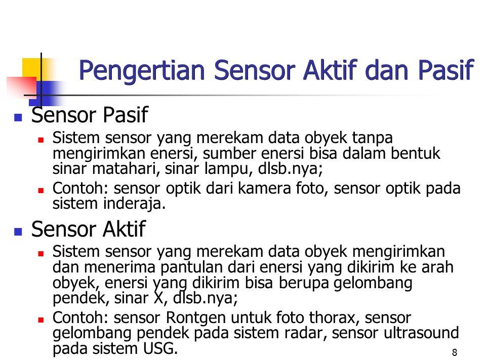 Pengertian Sensor Aktif dan Pasif
