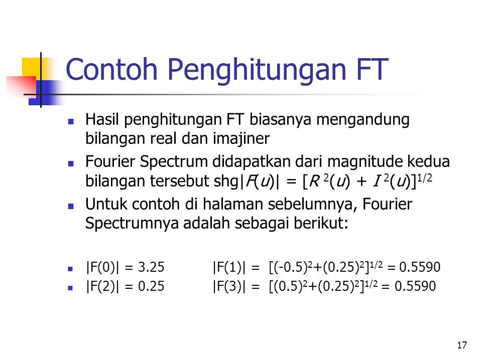 Contoh Penghitungan FT