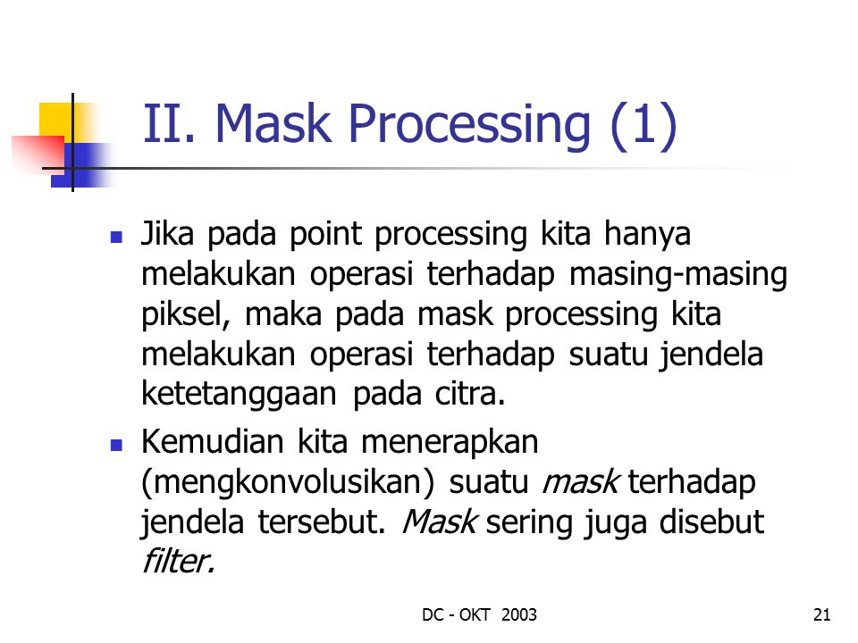 II. Mask Processing (1)