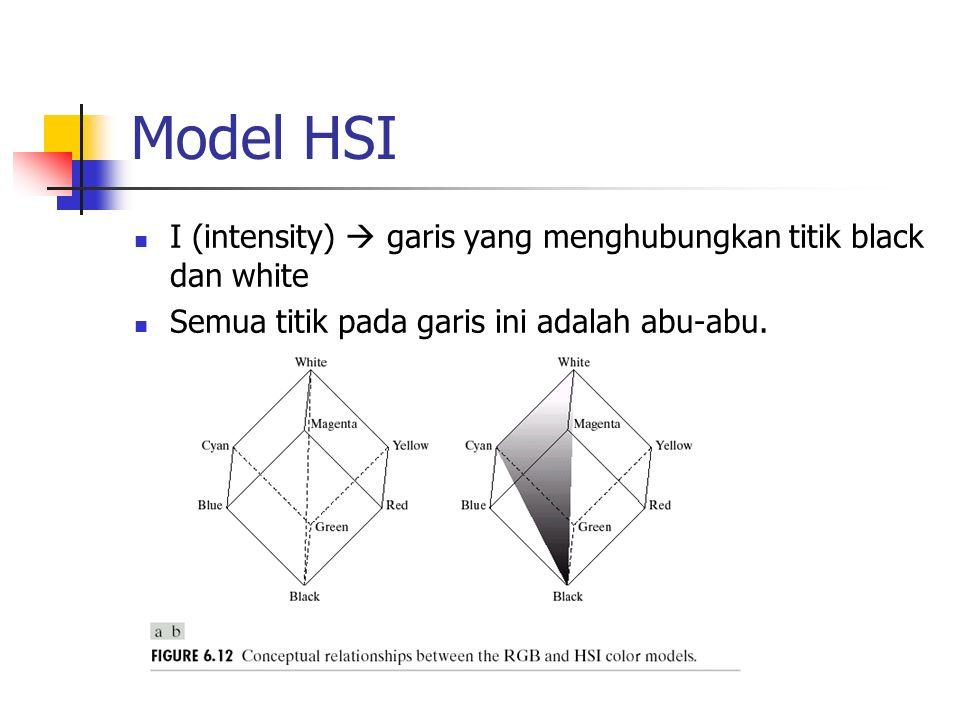 Model HSI I (intensity)  garis yang menghubungkan titik black dan white.