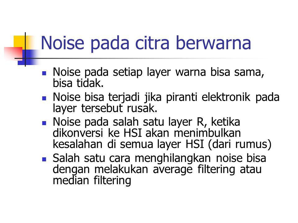 Noise pada citra berwarna
