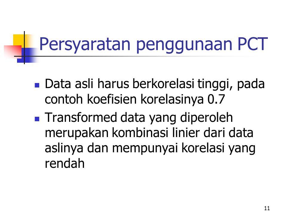 Persyaratan penggunaan PCT