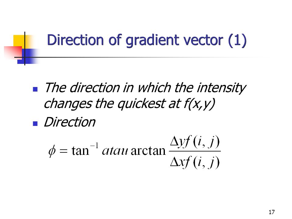 Direction of gradient vector (1)