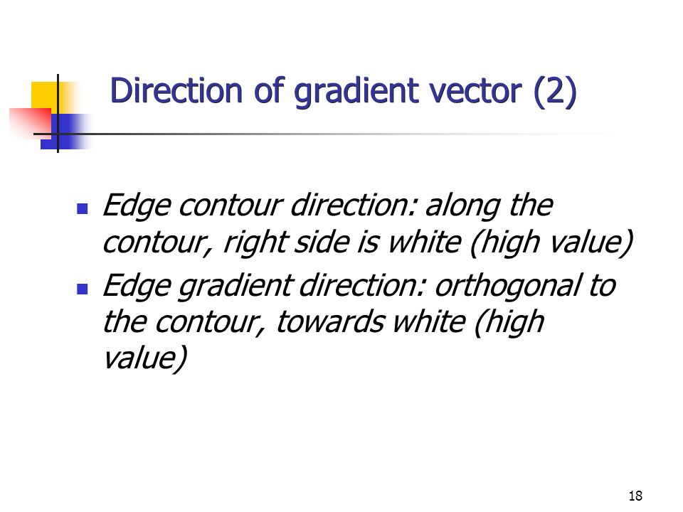 Direction of gradient vector (2)