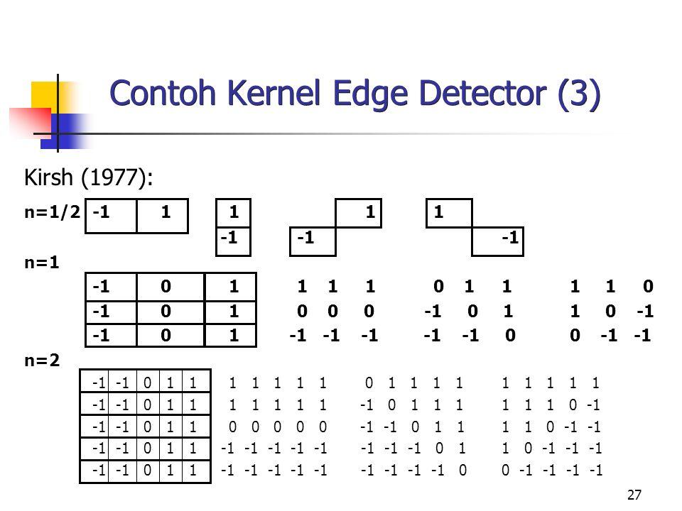 Contoh Kernel Edge Detector (3)
