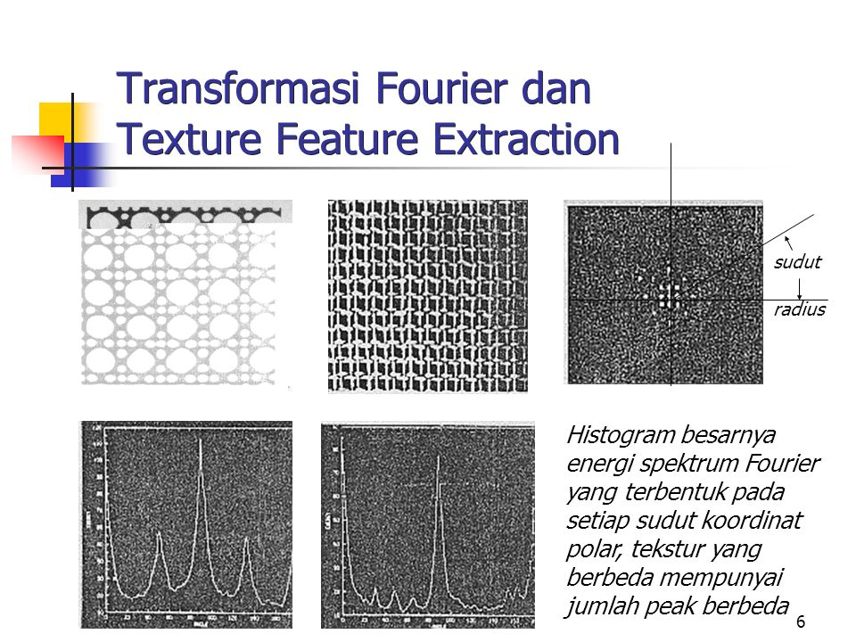 Transformasi Fourier dan Texture Feature Extraction