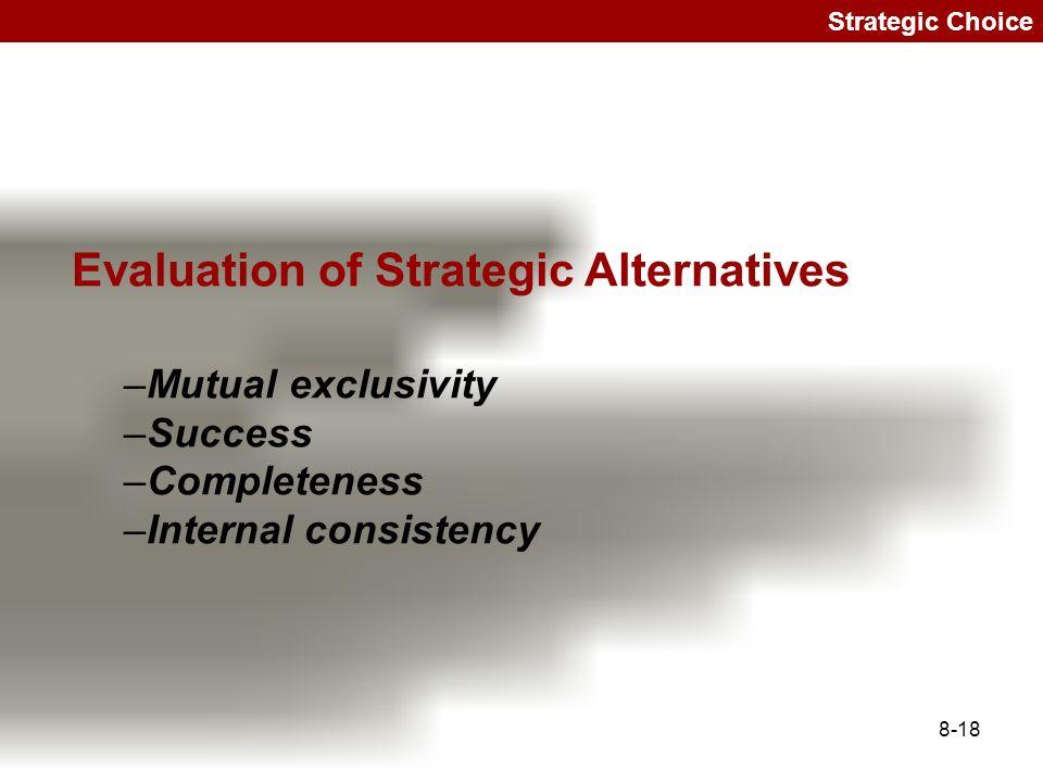 strategic choice and evalulation essay