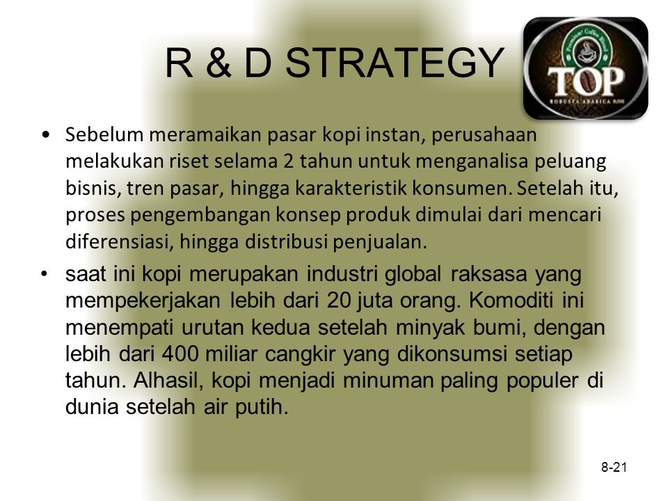 R & D STRATEGY