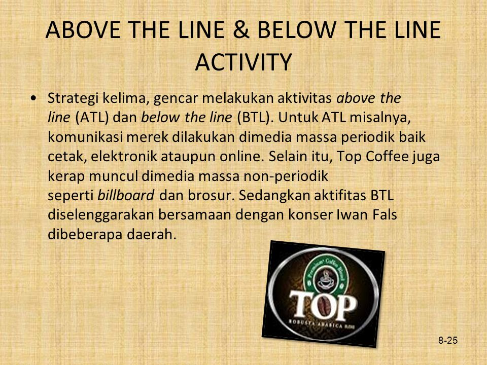 ABOVE THE LINE & BELOW THE LINE ACTIVITY