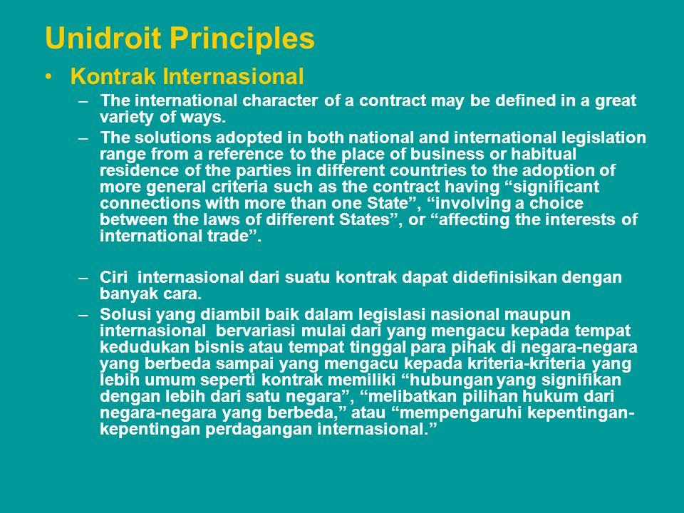 Unidroit Principles Kontrak Internasional