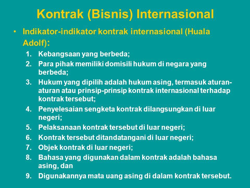Kontrak (Bisnis) Internasional
