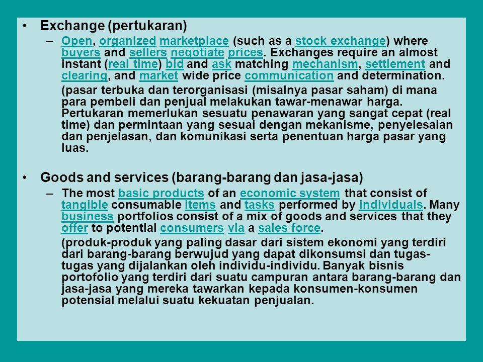 Exchange (pertukaran)
