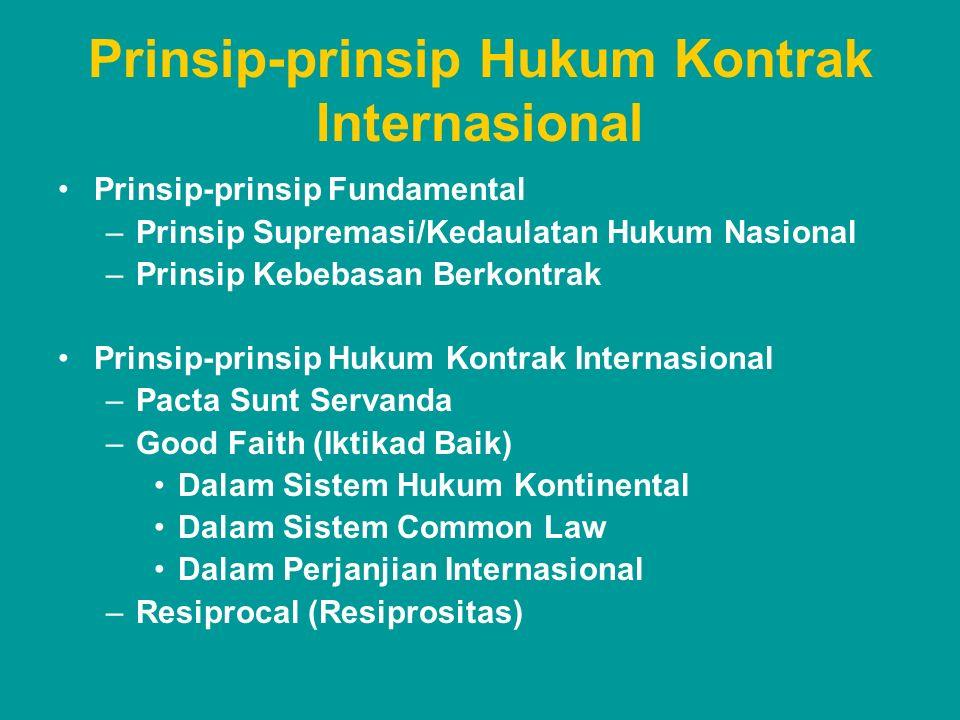 Prinsip-prinsip Hukum Kontrak Internasional