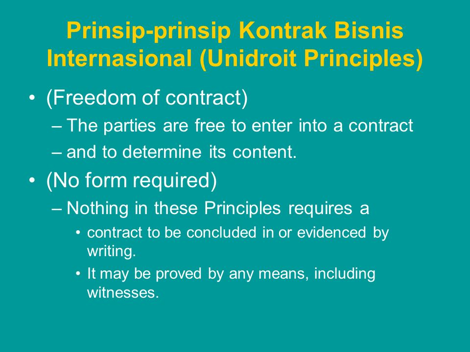 Prinsip-prinsip Kontrak Bisnis Internasional (Unidroit Principles)
