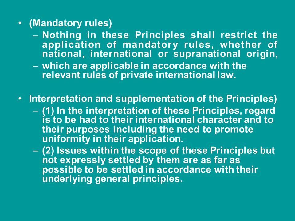 (Mandatory rules)