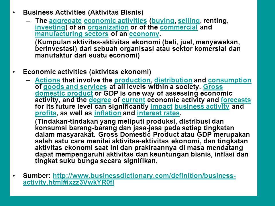 Business Activities (Aktivitas Bisnis)
