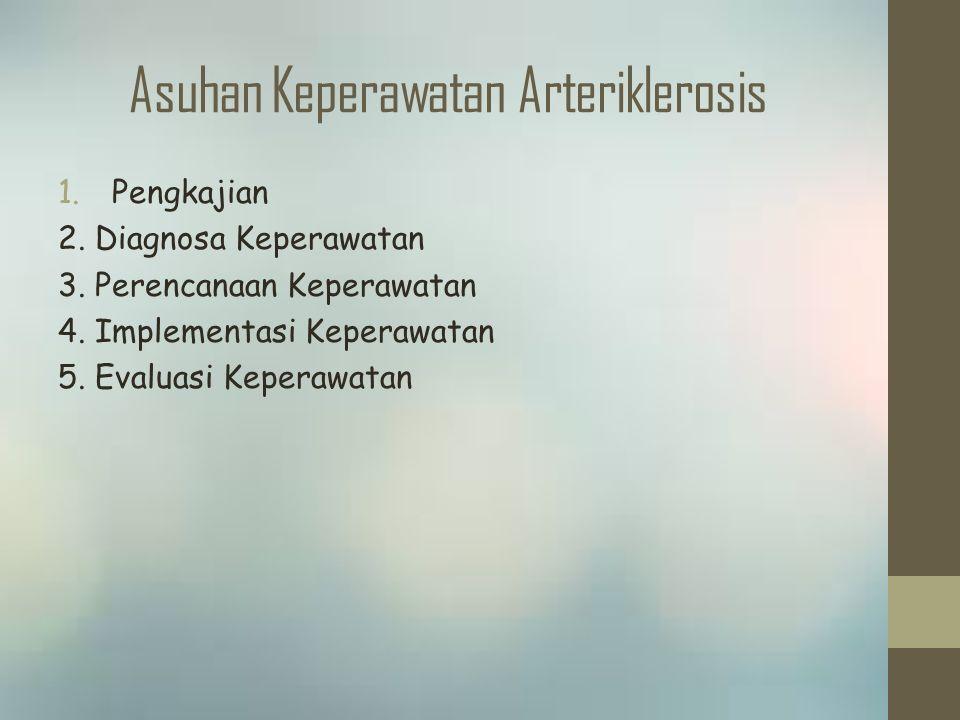Asuhan Keperawatan Arteriklerosis